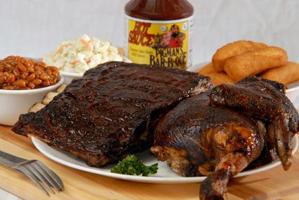 Pigman's Bar-B-Que, CHICKEN AND RIBS COMBO