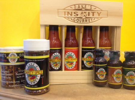 Island Spice & Wine, Dave's Insanity Hot Sauces