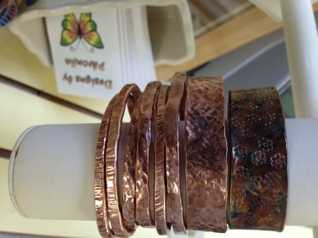 Yellowhouse Art Gallery, Hand-hammered copper bracelets