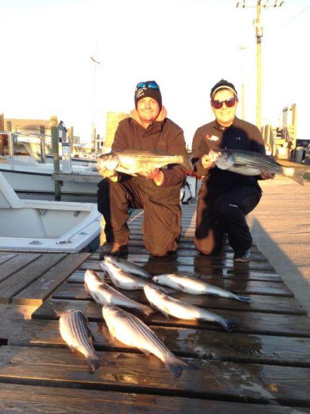 Oregon Inlet Fishing Center, In-Shore Rock Fishing Action