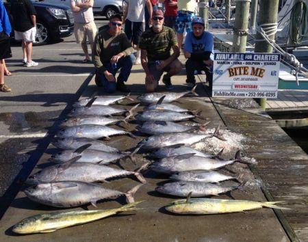 Bite Me Sportfishing Charters, Monster Blackfins!