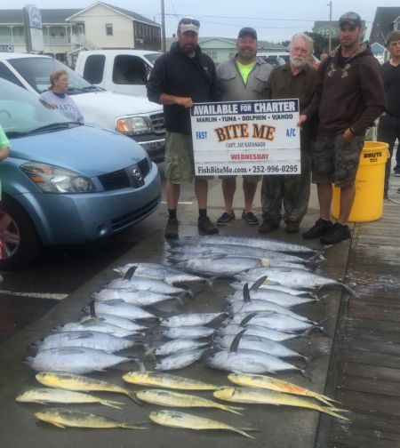 Bite Me Sportfishing Charters, Always good fishing on the Captain's Birthday!
