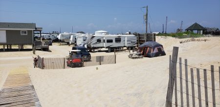 North Beach Campground, Camp next to Beach!