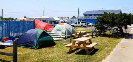 North Beach Campground, Camp in Hatteras!