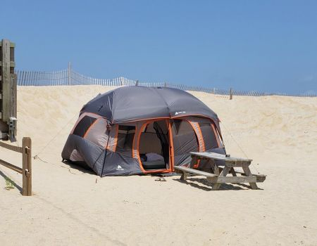 North Beach Campground, Camp on the Beach