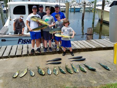 Fishin' Fannatic, Kids + Mahi = Great Time