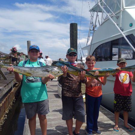 Tuna Duck Sportfishing, Kids and Mahi