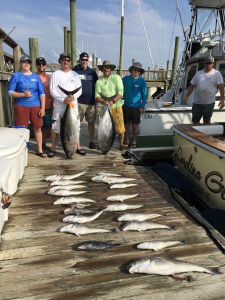 Carolina Girl Sportfishing Charters Outer Banks, Fish Buffet