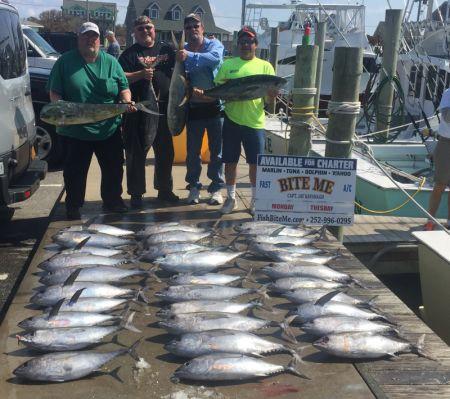 Bite Me Sportfishing Charters, Box full!  Tunas, Dolphin