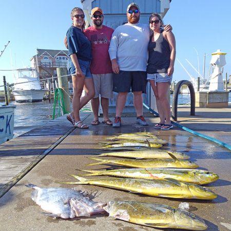 Tuna Duck Sportfishing, Calm Ocean and Mahi