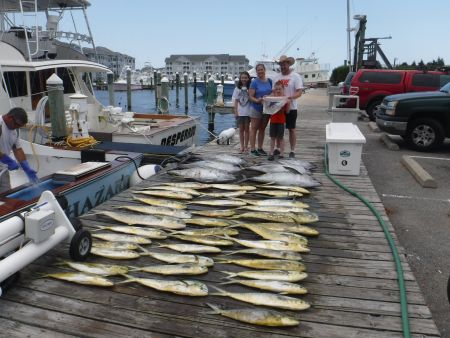 Pirate's Cove Marina, MAHI TUNA SHARKS oh my!