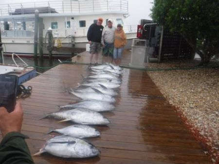 Pirate's Cove Marina, Good thing fish don't mind rain!