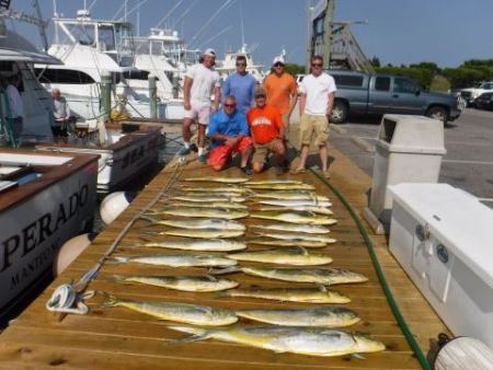 Pirate's Cove Marina, 2 Sailfish Mahi Cobia and Tuna