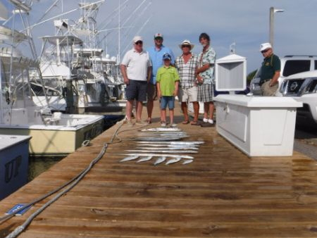 Pirate's Cove Marina, The fish of the day...BLUEFISH!
