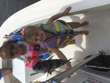 T-Time Charters, Black drum in the sound for these pretty girls