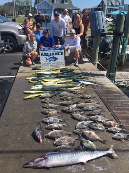 Reliance Hatteras Fishing Charters, Reliance charters Hatteras offshore report