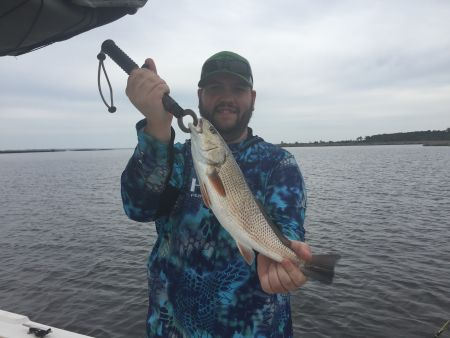 T-Time Charters, Kevin with one of his redfish yesterday
