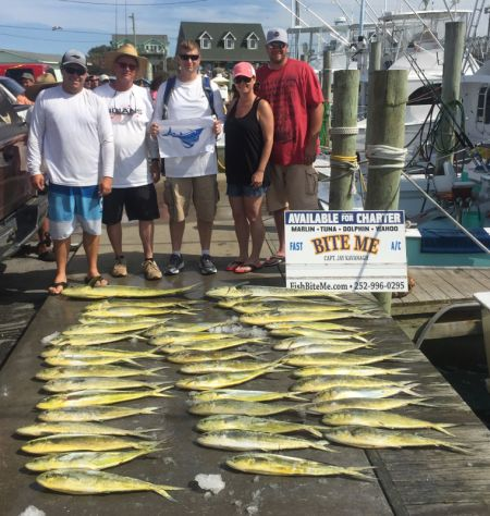 Bite Me Sportfishing Charters, Dolphins and a Sail!