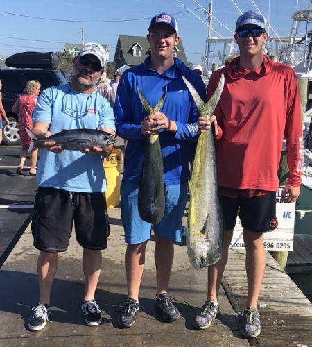 Bite Me Sportfishing Charters, New Friends!  Gaffer dolphin and Blackfin tuna
