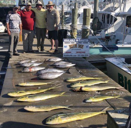 Bite Me Sportfishing Charters, Awesome Kite Bites! Tuna Mahi!