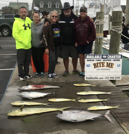 Bite Me Sportfishing Charters, scrappy Hank and his rowdy friends