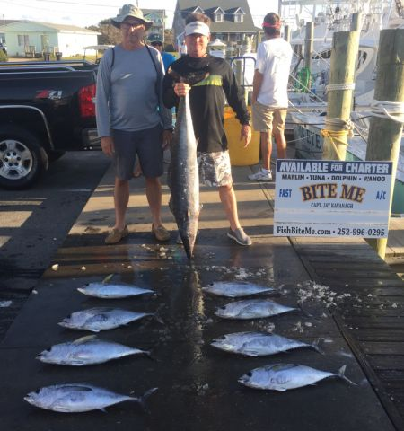 Bite Me Sportfishing Charters, Beautiful Fall Day Tunas and Wahoo