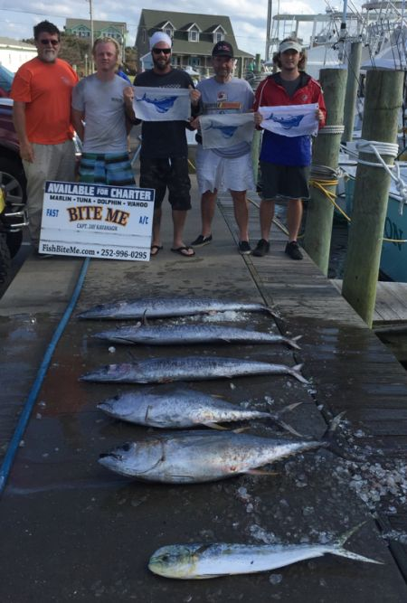 Bite Me Sportfishing Charters, What a difference a day makes