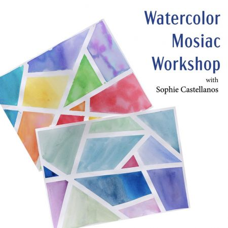 Dare County Arts Council, Watercolor Mosaics- Free Zoom Workshop with Sophie Castellanos