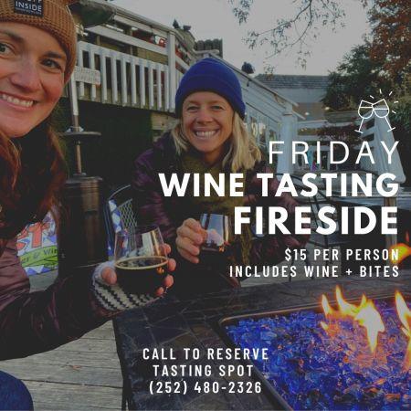 Sweet T's Coffee, Beer & Wine, Friday Wine Tasting Fireside
