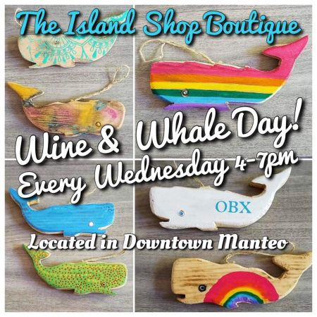 The Island Shop Boutique, Wine & Whale Wednesdays