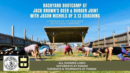 Jack Brown's Beer & Burger Joint, Backyard Bootcamp with 3.13 Coaching