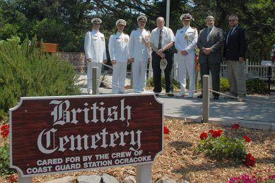 Visit Ocracoke, British Cemetery Ceremony