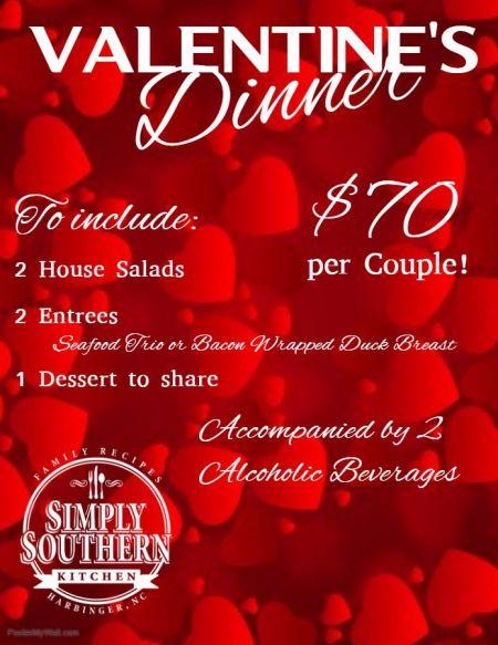 Simply Southern Kitchen, Valentine's Dinner