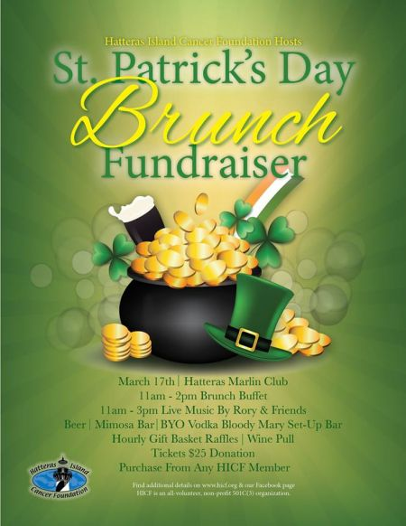 OBX Events, St. Patrick's Day Brunch Fundraiser
