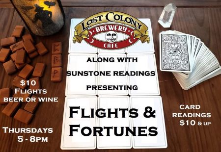 Lost Colony Brewery and Cafe, Flights & Fortunes