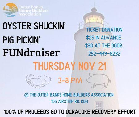 OBX Events, Oyster Shuckin', Pig Pickin' FUNdraiser