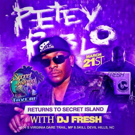Secret Island Tavern Outer Banks, Petey Pablo