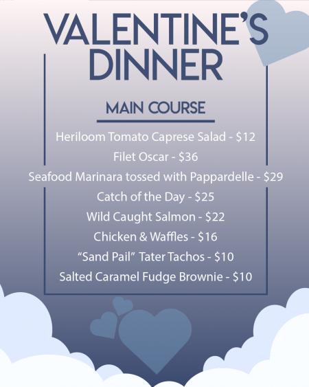 Mulligan's Grille, Valentine's Day Dinner