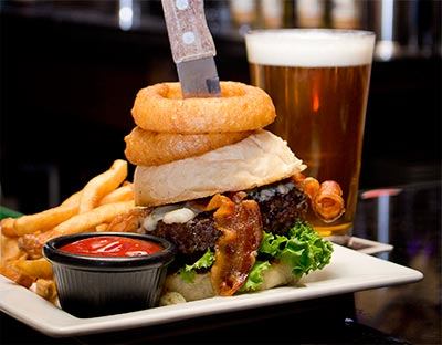 Lost Colony Brewery and Cafe, 1/2 price Burgers