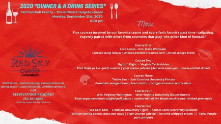 Red Sky Cafe, Dinner & Drink Series: Fall Football Frenzy