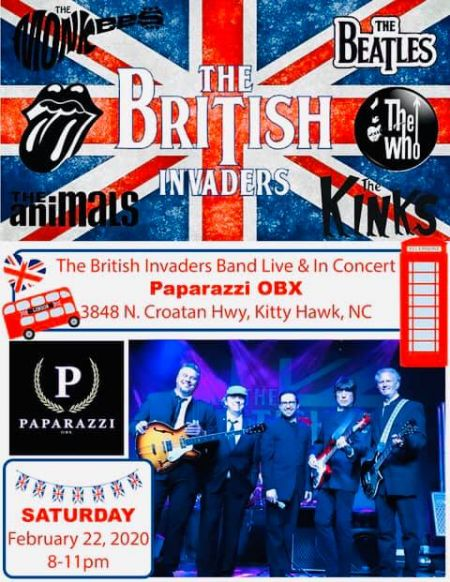 Paparazzi OBX Concert & Event Venue, The British Invaders