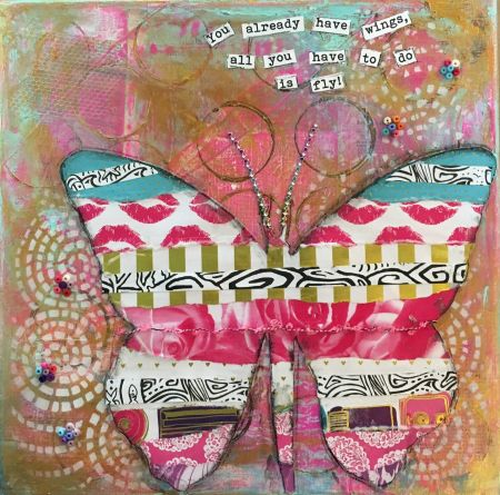OBX Events, Mixed Media Magic Classes at Déja New