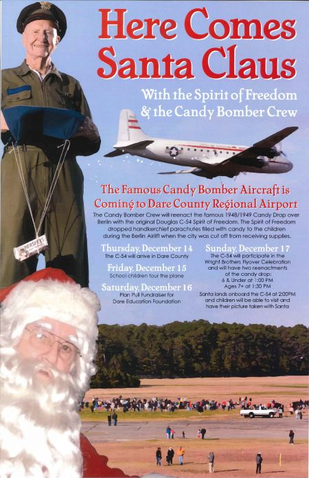 OBX Events, See the Candy Bomber