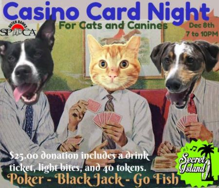 Secret Island Restaurant Outer Banks, Casino Night for Cats & Canines