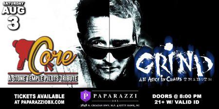 Paparazzi OBX Concert & Event Venue, Core & Grind: Stone Temple Pilots & Alice in Chains Tribute