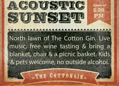 Cotton Gin, The Break - Acoustic Sunset Concert Series