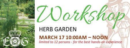 Elizabethan Gardens, Herb Garden Workshop