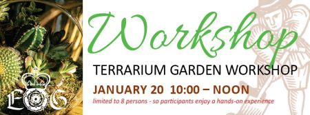 Elizabethan Gardens, Terrarium Garden Workshop