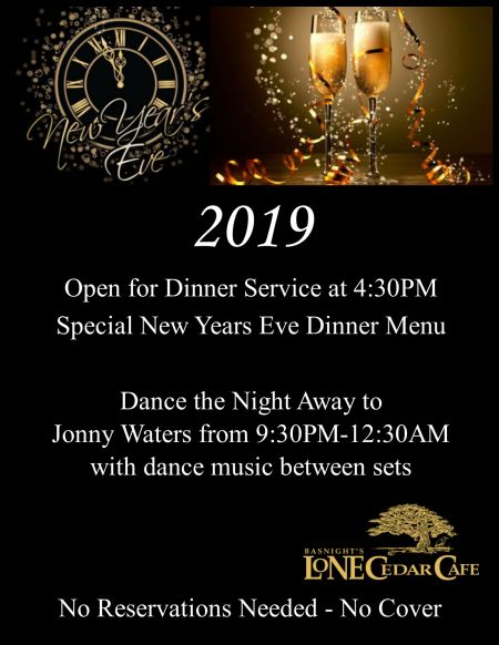 Basnight's Lone Cedar Outer Banks Seafood Restaurant, New Year's Eve Bash