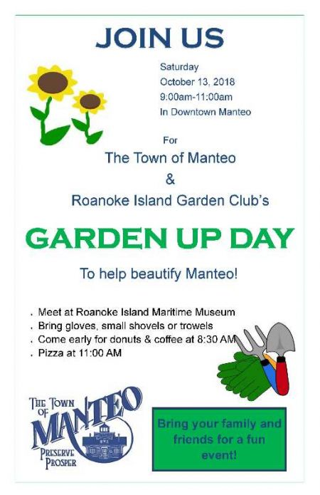 Town of Manteo, Manteo Garden Up Day